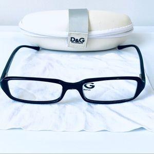 Dolce & Gabbana Narrow Rectangular Frame Glasses